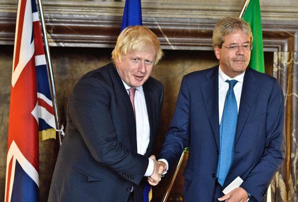 Boris Johnson is in Italy to discuss Brexit