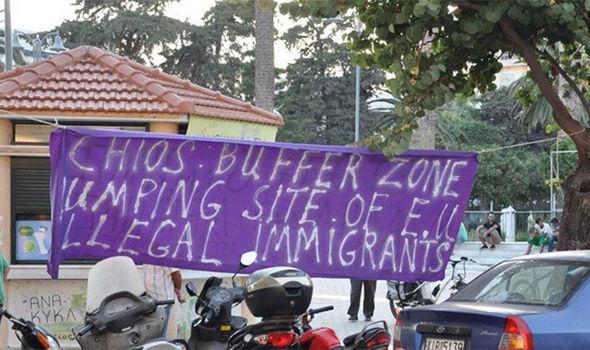 island's refugee camp