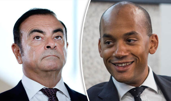 Carlos Ghosn and Labour MP Chuka Umunna