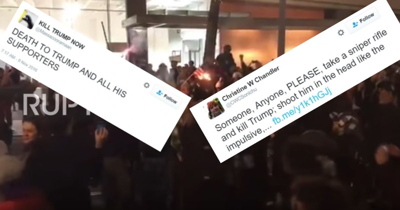 Hillary Supporters Burn American Flag, Riot, Threaten to Kill Trump After Losing Election