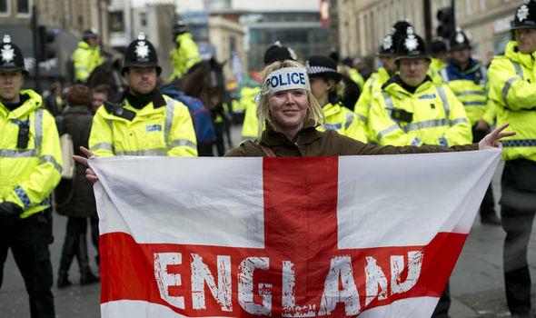 England protester