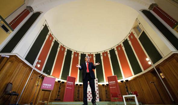 Gordon Brown speaking at The Fabian Society